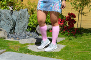Solid Cotton Pink Energy Socks