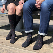 Black Confetti Cotton Energy Socks