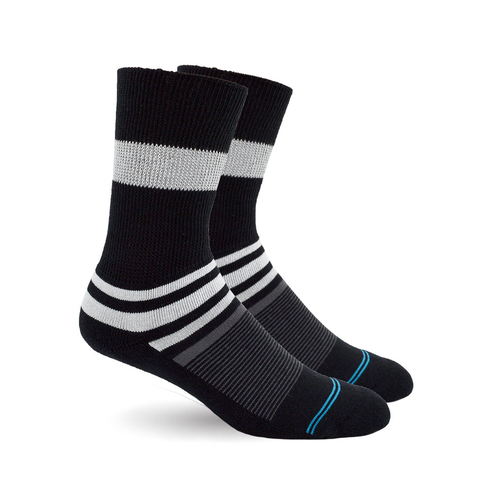 Black Stripe Diabetic Socks for Men, Diabetic Socks For Women, Neuropathy, Non Binding, Seamless