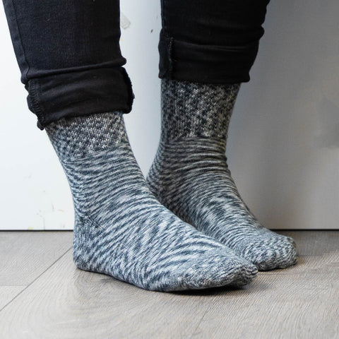 Diabetic Socks for Men, Diabetic Socks For Women, Neuropathy, Non Binding, Seamless - Marble Grey