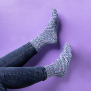 Diabetic Socks for Men, Diabetic Socks For Women, Neuropathy, Non Binding, Seamless - Cosmic Purple