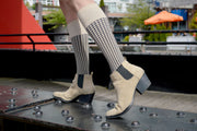 Houndstooth Cotton Beige Energy Socks
