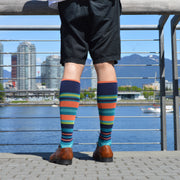 Stripe Cotton Teal - Medical Compression Socks