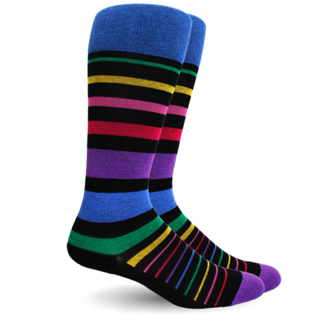 Stripe Cotton Black Multi Energy Socks