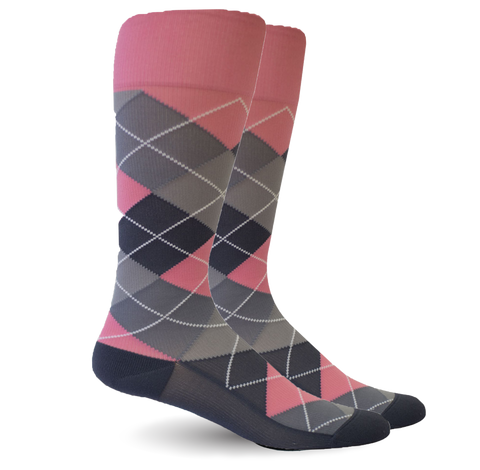 Argyle Pink/Grey - Women's Medical