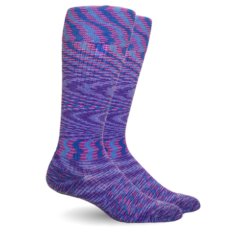 Space Dyed Cotton Purple/Blue Energy Socks