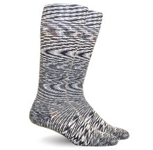 Space Dyed Cotton Grey/White Energy Socks