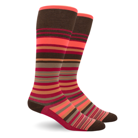 Stripes Cotton Pink - Medical Compression Socks