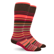STRIPE COTTON PINK ENERGY SOCKS