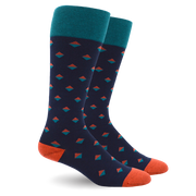 DIAMOND DOT TEAL COTTON ENERGY SOCKS