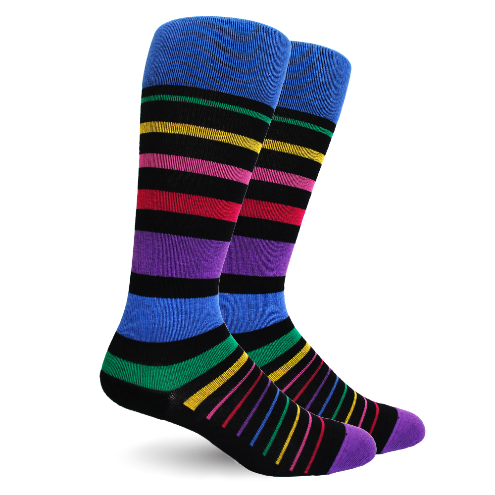 Dr. Segal's Compression Socks 20-30 mmHg rainbow multicolour stripe