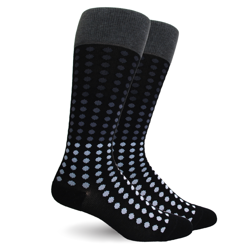 Polka Dot Cotton Black Energy Socks