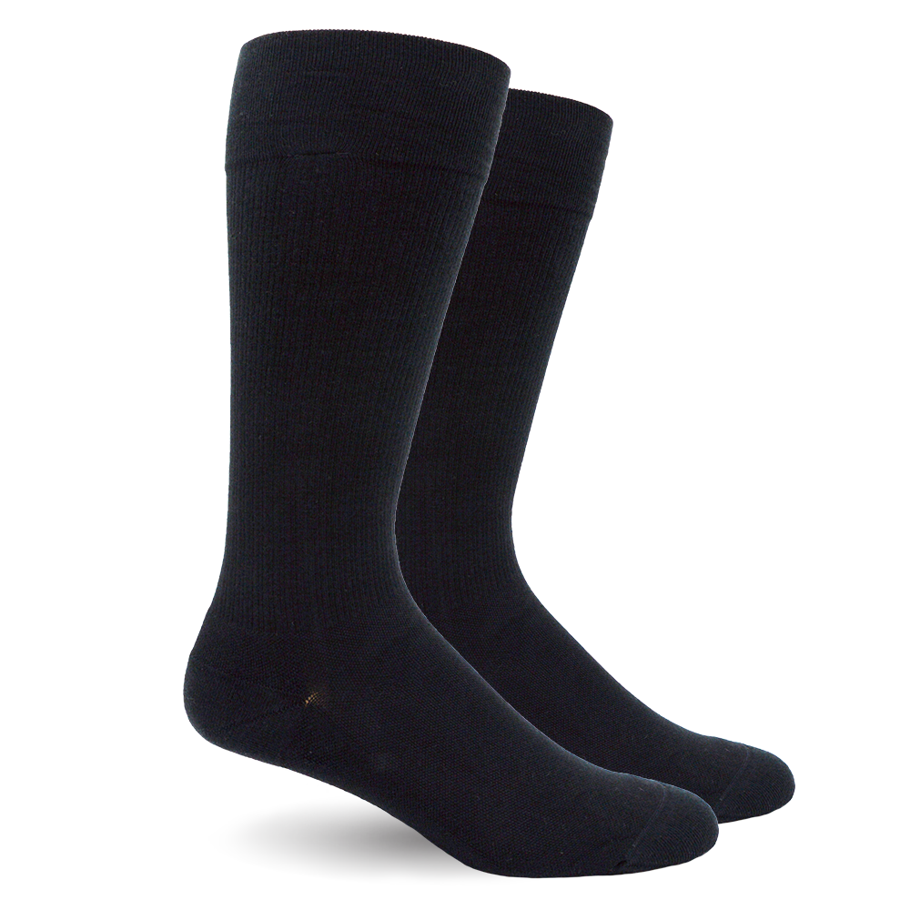 Solid Black Cotton - Medical Compression Socks