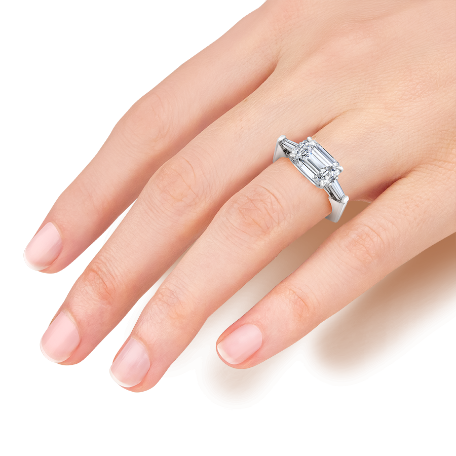 engagement ring, I do, proposal, emerald cut