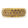 Honey comb, Hexagon cut champagne diamonds, bangle, cuff
