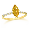 Natural Certified Fancy Yellow Diamond Ring