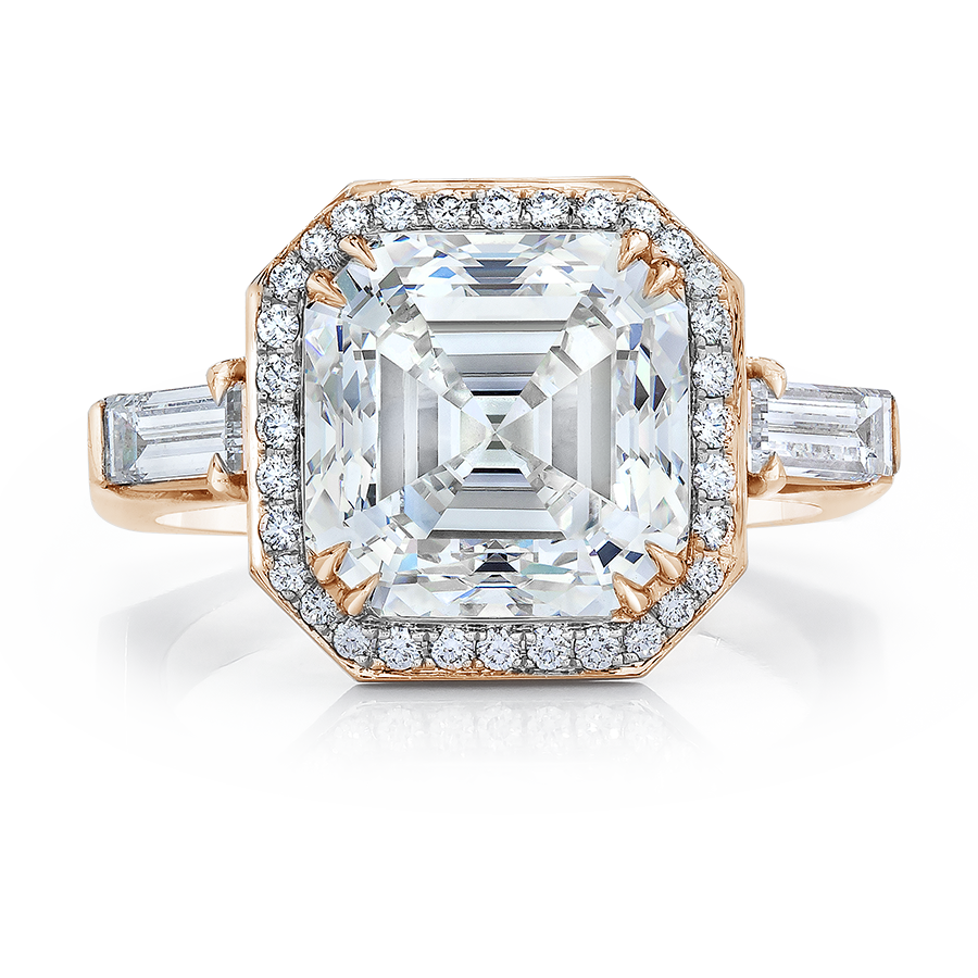 GIA certified diamond engagement ring