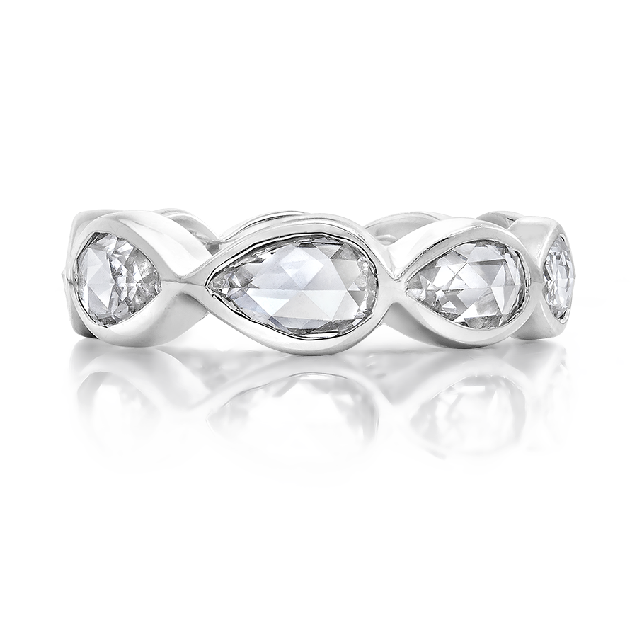 diamond rose cut band