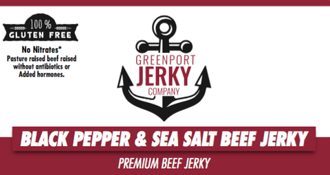 GLUTEN FREE BLACK PEPPER & SEA SALT BEEF JERKY