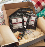 JERKY STEAK LOVERS BOX DELUXE w/4 Beef and Greenport Fire Steak Sauce. FREE SHIPPING SAVE $8.00