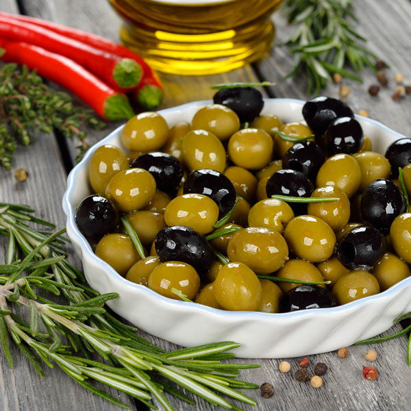 9. olives + prepared foods