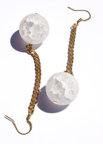 Crackle quartz earrings, quartz gold earrings, what does quartz do, quartz dangle earrings, quartz jewelry,