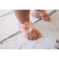 Barefoot Baby Sandals and Headband Set