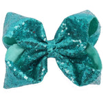 "Xtra Large 7"" Teal Sequin Bow"