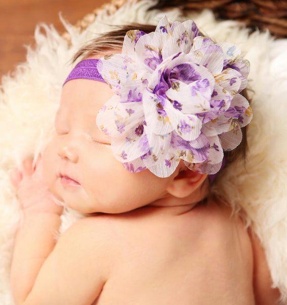 Purple Floral Headband - LoliBean