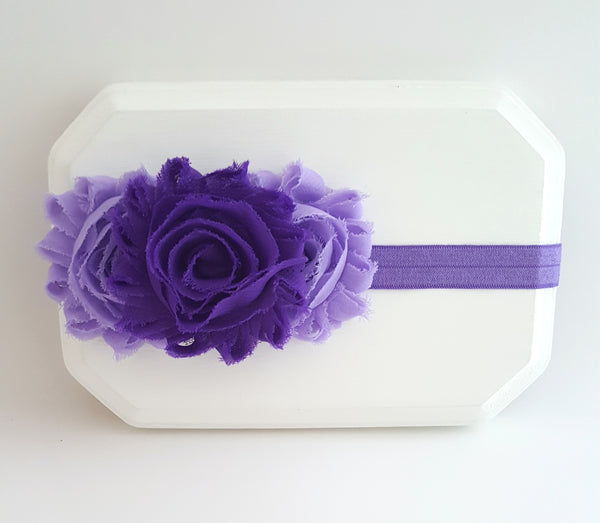 Purple and Lavender Headband, Purple Headband, Girls Headband - LoliBean
