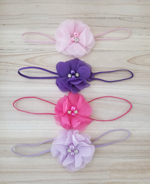 Newborn Headband Set, Baby Girl Headbands - LoliBean