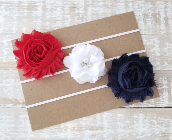 Patriotic Headband Set, Set of 3 Headbands - LoliBean