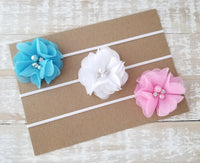 Baby Headband Set, Pink and Blue Headband Set, Baby Headbands - LoliBean