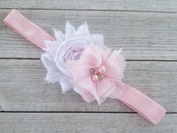 Pink Headband, Pink and White Headband, Spring Headband - LoliBean