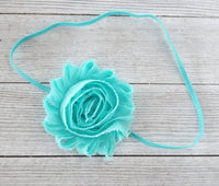 Aqua Blue Headband, Baby Girl Headband, Newborn Headbands - LoliBean