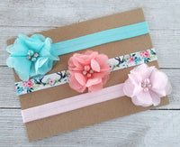 Newborn Headband Set, Headband Gift Set, Set of 3 Baby Headbands - LoliBean