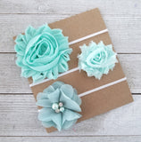 Mint Headband Set, Mint Baby Headbands - LoliBean