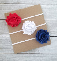 Patriotic Headband Set, Red White and Blue Headband Set - LoliBean