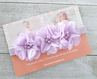 Lavender Barefoot Sandals and Matching Headband - LoliBean