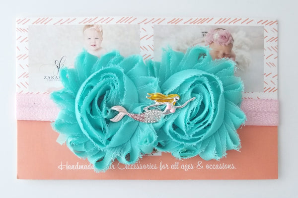 Pink and Aqua Mermaid Headband - LoliBean