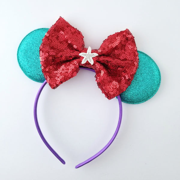 Ariel Inspired Mouse Ear Headband - LoliBean