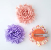 Set of 3 Spring Inspired Hair Clips - LoliBean