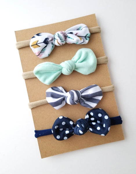 Nylon Headband Set, Top Knot Headbands - LoliBean