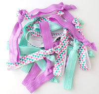 Geometric Pastel Hair Tie Mix