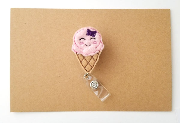 Ice Cream Cone Badge Reel