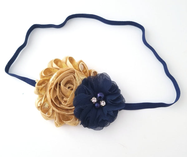 Gold & Navy Headband