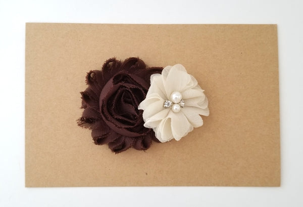 Brown and Beige Hair Clip - Thanksgiving Hair Clip
