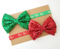 Red & Green Holiday Headband Set - LoliBean
