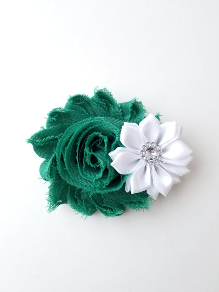 Emerald Green Holiday Hair Clip