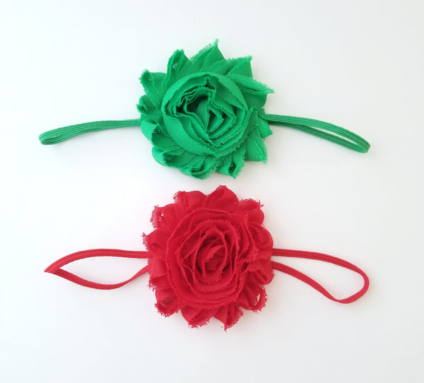 Red & Green Christmas Headbands